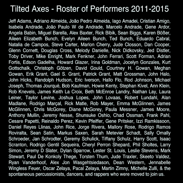Tilted Axes Roster 2011-15