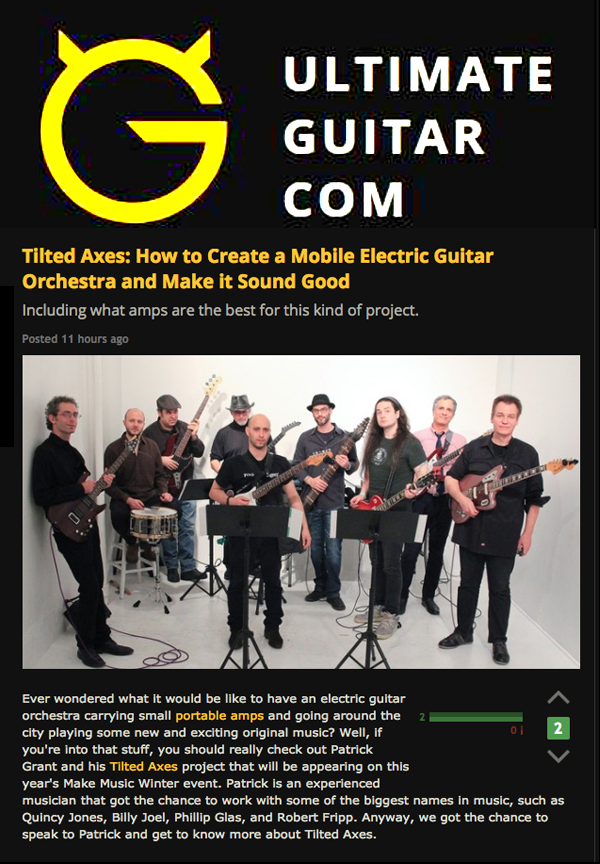 Ultimate Guitar Interview About Tilted Axes Relaunch | The MMiXdown